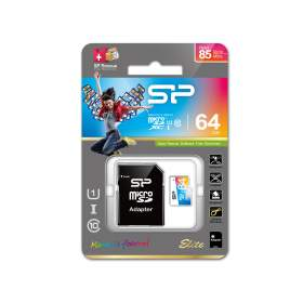 Siliconen Power 64GB Elite MicroSDXC